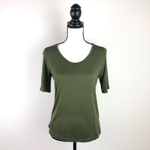MADEWELL olive green fitted T-shirt XS